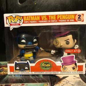 Batman vs The Penguin 2 pack funko pops.